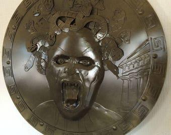 Handmade Metal Medusa wall Shield