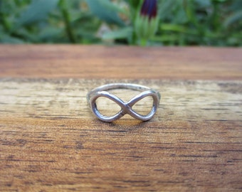 Silver Infinity Ring / Sterling Silver Ring / Custom Infinity Ring / Made to Order Ring / Forever Ring / Large Infinity Ring / Eco Friendly