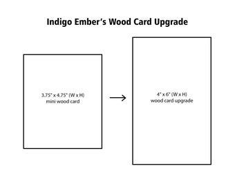 Indigo Ember Mini Wood Card Upgrade