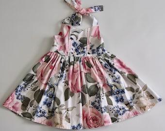 Halter Dress - Roses - Various Sizes