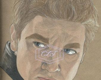 Hawkeye, Clint Barton Jeremy Renner Drawing