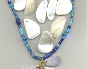Mother of Pearl  Chips, Pendants, Embellishments  for Crafts, Jewelry, Mirrors, Picture Frames, Candles B1852