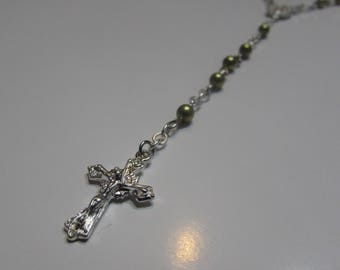 Rosary in green Pearls