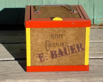 Vintage 1960's E. Bauer Bait Carrier or Bait Box