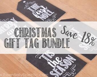 Christmas Gift Tag Bundle | Chalkboard Gift Tags