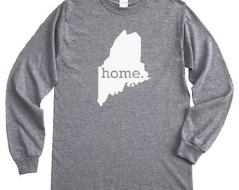 Homeland Tees Maine Home Long Sleeve Shirt