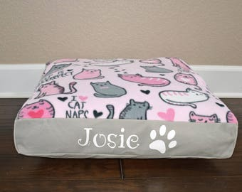 "22"" Square Personalized Cat Bed"