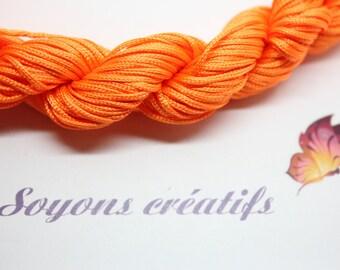28 m thread nylon braided 1 mm - Orange design jewelry