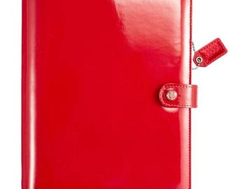 Webster's Pages Red Patent A5 Planner
