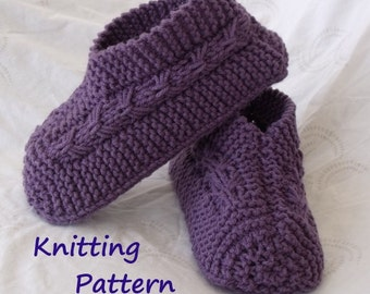 Easy to Knit Bow Slippers Tutorial - Knitting Pattern for Kindle, iPad, Kobo, Nook, Computer