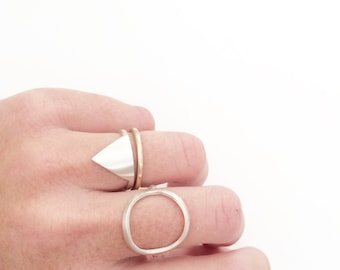 Triangle ring / silver stacking ring