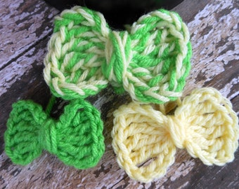 Multi Mini Bow Crochet PDF Patterns in 3 sizes - Instant Download