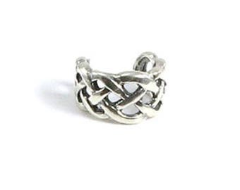 Irish Celtic Knot Weave Ear Cuff