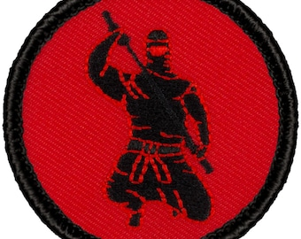 Ninja Patch (318) 3 Colors! 2 Inch Diameter Embroidered Patch