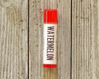 Watermelon Lip Balm Tube    Chapstick    Gifts Under 10