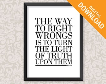 The Way To Right Wrongs quotation by Ida B Wells