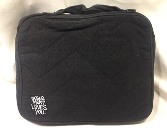 Black Canvas iPad/Netbook Pouch