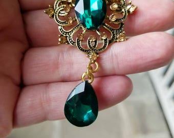 Sale Green brooch