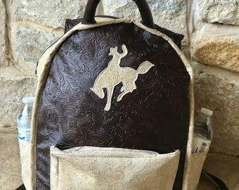 bucking horse western backpack