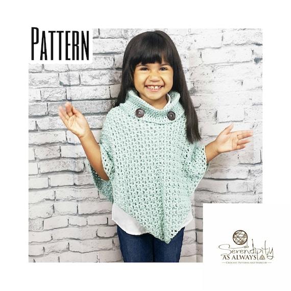 Crochet Pattern Cowl Neck Poncho Womens Poncho Pattern Size 6