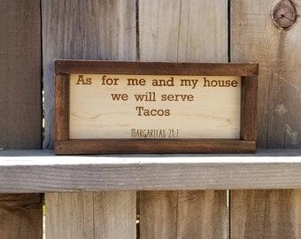 Tacos Wood Sign