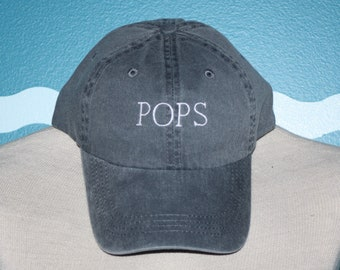 Pops Embroidered Baseball Cap - Pops Gift - Father's Day - Gift Under 20 - Custom Ball Cap - Baseball Hat Custom Embroidered - Grandparent