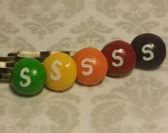 Skittles Hair Pins