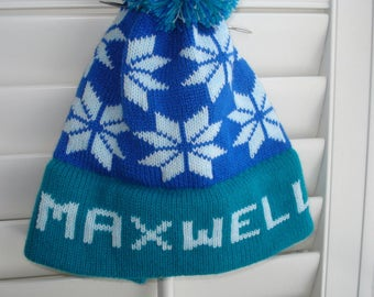 Personalized knit hat = Maxwell, Sean, River or Wyatt