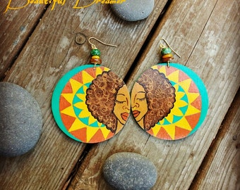 Beautiful Dreamer Hand Painted Earrings