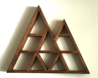 FLASH SALE: Large Rustic Geometric Mountain Shelf