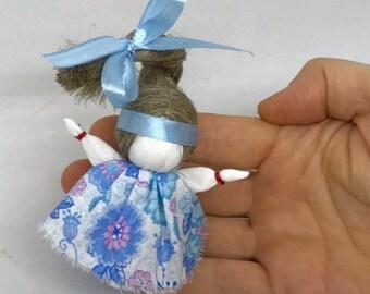 Handmade rag doll. Dolyshka. Russian traditional doll for happiness.