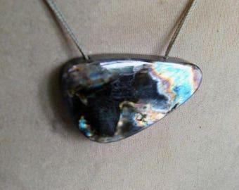 1 Pendant  Labradorite spectrolite layout  bead. 19, grams 8X26X44 MM