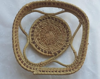 Woven Bread or Fruit Basket Decorative Container