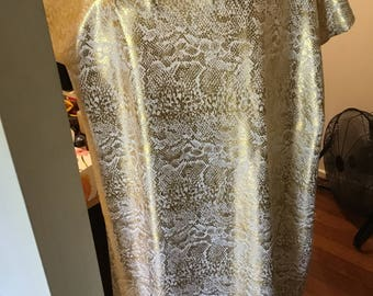 White with gold foil/ caftan /dress/kaftan/ Long dress/size AU 12-18/casual dress/Party dress