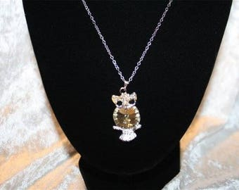 Silver OWL pendant with chain