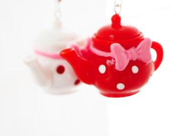 2x Teapot earrings