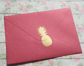 8 stickers pineapple stickers gold / metallic gold
