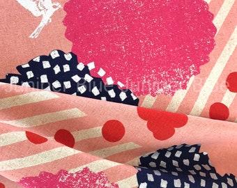 Pink Blossom- Lightweight Canvas, Echino for Kokka Fabrics