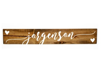 Name Wood Sign, Gift for Couple, Bedroom Wall Decor, Personalized Gifts, Rustic Home Decor, Gift for Her, Wedding Center piece card table