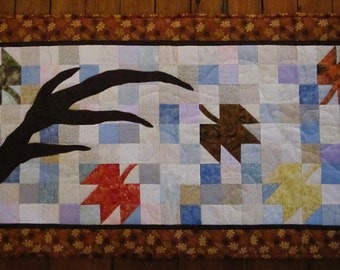 Autumn Leaves Quilted Patchwork Table Runner