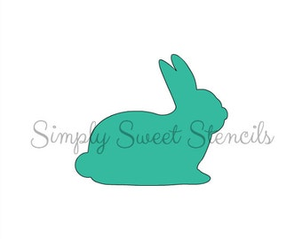 Bunny Silhouette Stencil 3