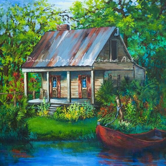 The bayou cabin louisiana swamp cabin fishing camp on the for Fishing camps for sale in louisiana