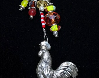 Cock-A-Doodle-Doo Rooster Charm Necklace (Handcrafted)