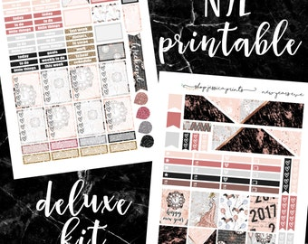 New Year's Eve Deluxe PRINTABLE Sticker Kit / Fits Erin Condren Vertical Life Planner