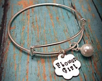 Flower Girl Bracelet - Flower Girl Gift - Flower Girl Jewelry - Flower Girl - Wedding Jewelry - Wedding Party - Wedding - Child Bracelet