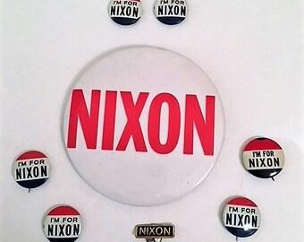 Presidential Memorabilia- President Nixon Campaign Button Collection