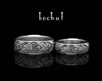 "Silver wedding ring, silver wedding band, sterling silver ring. Wedding bands ""Renessaince"" from Kochut collection."
