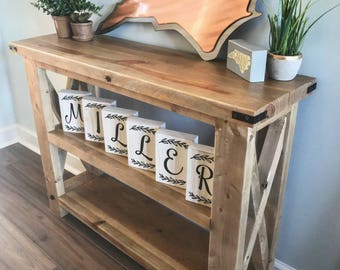 weathered and rustic entry way table - Entry Table Decor
