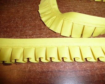 Yellow Pleated Trim Closeout Price
