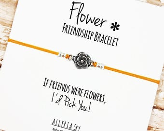 Easter gift ideas etsy flower charm friendship bracelet with card bff best friend gift jewelry spring negle Image collections